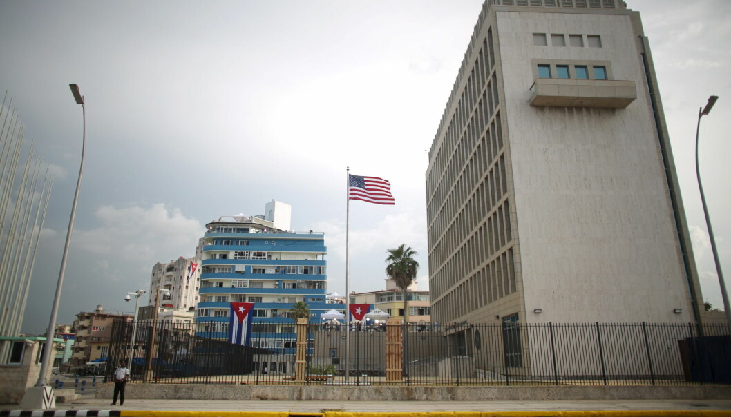 Her er den amerikanske ambassaden i Havana, Cuba. (Foto: Reuters, Alexandre Meneghini, NTB Scanpix)