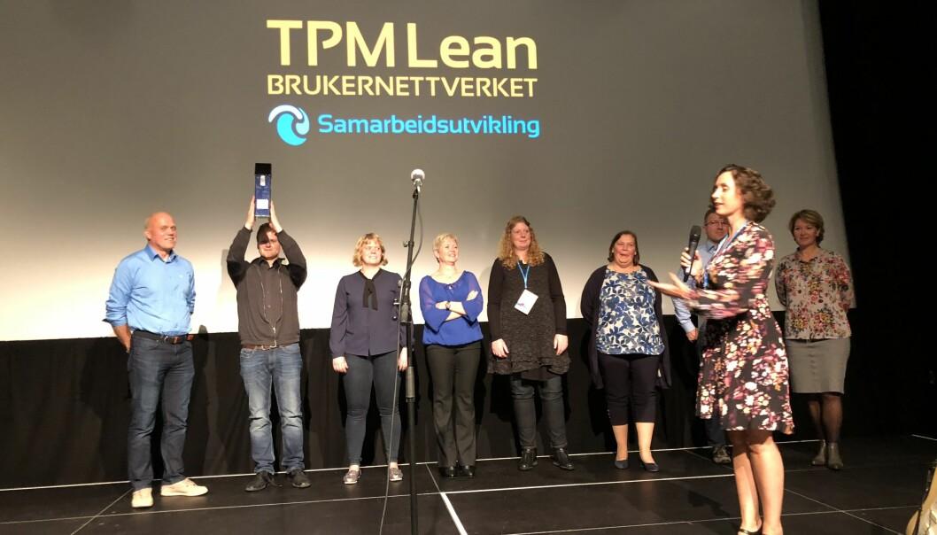 Ansatte på Nofima Sunndalsøra mottok inspirasjonsprisen sammen med stasjonsleder Synnøve Helland i Stavanger torsdag. (Foto: Anne-May Johansen ©Nofima)
