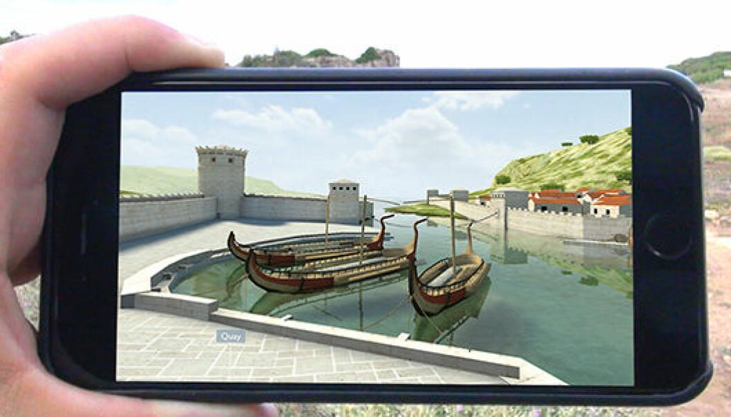 Hvis du drar til Kreta kan du gjennoppleve den antikke havnebyen Phalasarna sin storhetstid ved hjelp av en app utviklet av forskere ved Universitet i Oslo.  (Foto: Gunnar Liestøl)
