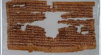 2000 år gammel papyrus gir glimt fra hverdagslivet i Egypt