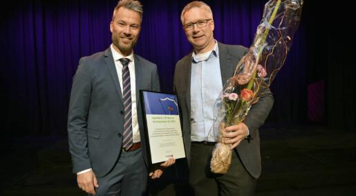 SR-banks innovasjonspris til Arild Johannessen