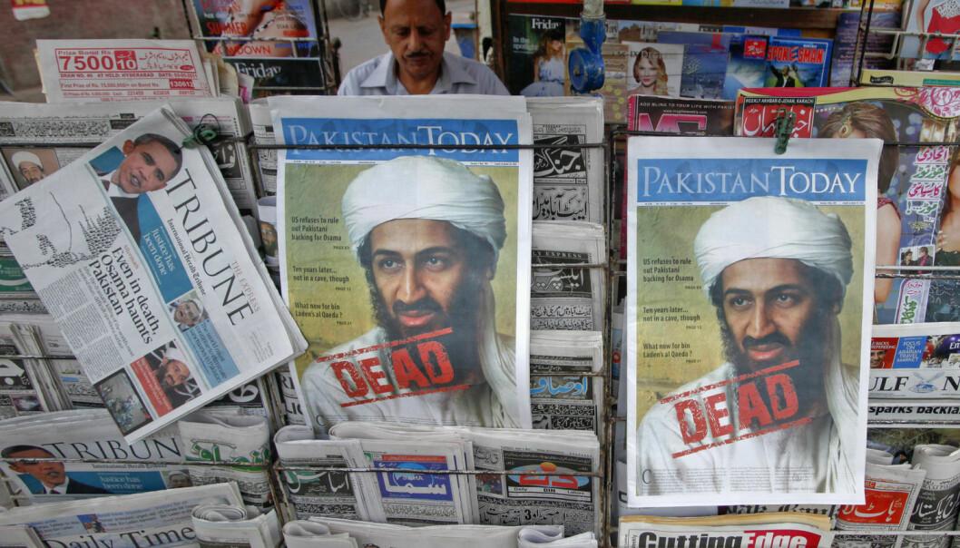 Forsker tror al-Qaida fortsatt er aktive. – Men de kaller seg ikke lenger al-Qaida, fordi de nå opplever at navnet er en belastning. Bildet er tatt dagen etter Osama bin Laden ble drept 2. mai 2011.  (Foto: Reuters / NTB Scanpix)