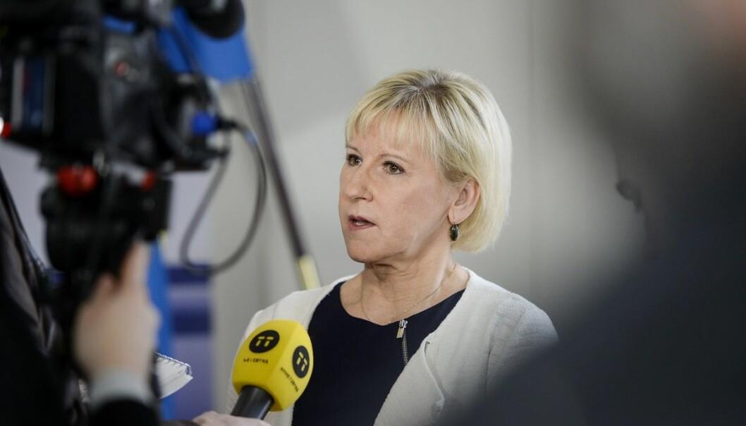 Sveriges utenriksminister Margot Wallström fordømmer at en iransk domstol har dømt en forsker som hadde oppholdstillatelse i Sverige til døden. (Foto: Vilhelm Stokstad, TT, NTB scanpix)
