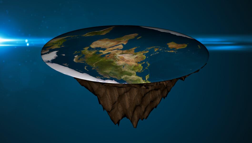 Ein tematikk i internasjonale og norske konspirasjonsteoriar er at jorda er flat som ei pannekake.  (Foto: Colourbox)