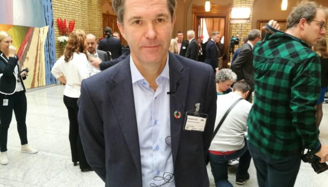 Administrerande direktør John-Arne Røttingen i Forskingsrådet kan gleda seg over ein framgang i norsk forsking dei siste 20 åra. (Foto: Martin Toft)