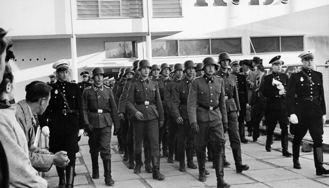 Danske ungdommer heroiserer motstandskjempere fra andre verdenskrig, mens de er mer mindre bevisste på at flere tusen dansker meldte seg frivillige til tysk krigstjeneste – akkurat som disse soldatene fra Frikorps Danmark.  (Foto: Nationalmuseet)