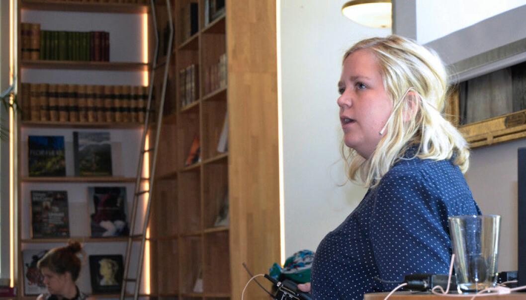 - Arbeidsgjevarar kan førebu forskarane og tilby støtte til dei som har behov for det, seier stipendiat Birgitte Haanshuus ved HL-senteret. (Foto: Elise Løvereid)