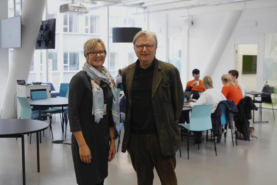Per Christian Magnus blir leder for det nye senteret. Kristine Holmelid blir reportasjeleder. (Foto: Ole Marius Kvamme / UiB)