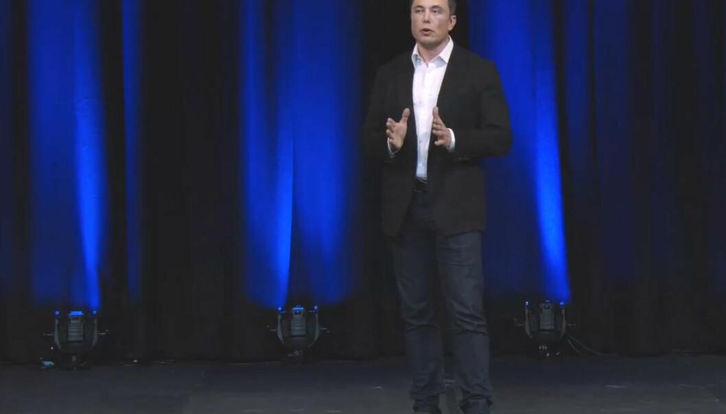 Elon Musk på den internasjonale romkongressen i Adelaide i Australia, 29. september 2017. (Foto: Fra video publisert på YouTube av SpaceX)