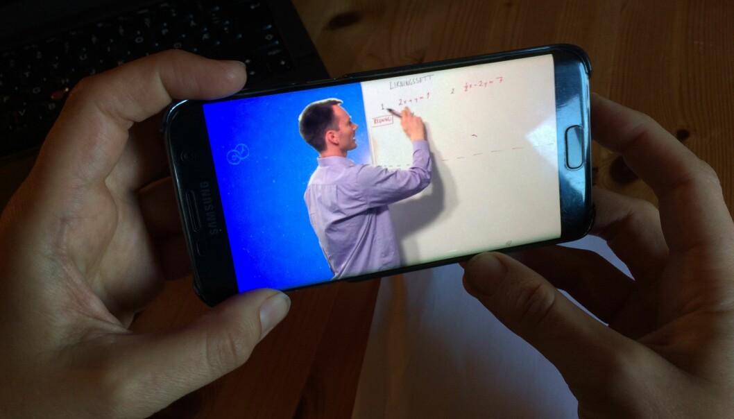 Videoar, som denne frå mattevideo.no, kan bli fremtidas mattelekse.  (Foto: Høgskulen på Vestlandet)