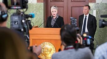 Nobels fredspris tildelesDen internasjonale kampanjen for forbud mot atomvåpen