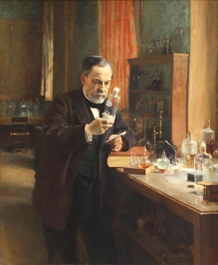 Den franske kjemikeren og biologen Louis Pasteur hadde på 1800-tallet flere sammenstøt med Félix Pouchet. Begge påsto hårdnakket å ha gjennomført samme forsøk, men de fikk ulike resultater. (Maleri: Albert Edelfelt)