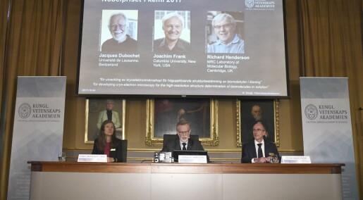 Nobelprisen i kjemi blir delt mellom tre forskere
