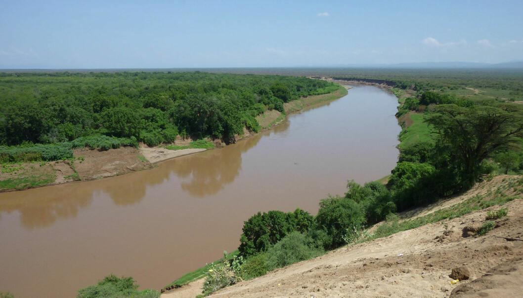 Omo-elven i Etiopia. Her ble noen av verdens eldste Homo Sapiens-fossiler funnet. (Illustrasjonsfoto: Bernard Gagnon/CC BY-SA 3.0)