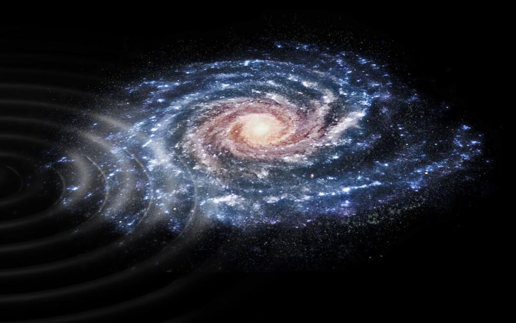 Forsker oppdaget et merkelig mønster da hun undersøkte farten og bevegelsen for stjernene i Melkeveien. (Illustrasjon: ESA)