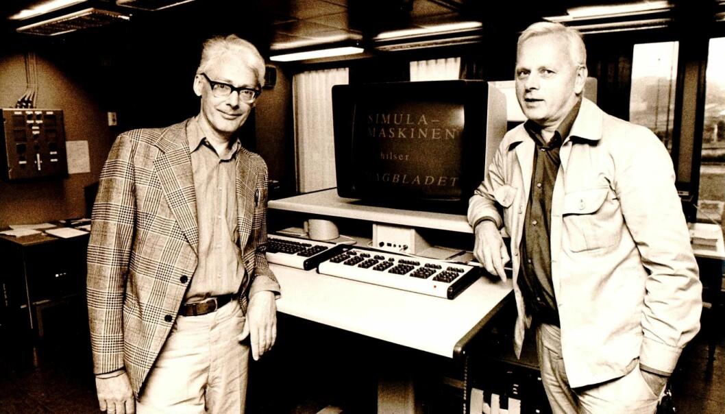 Ole-Johan Dahl og Kristen Nygaard utviklet et system og ideer som fortsatt er enerådende i programvareutvikling.  (Foto: Rune Myhre / Dagbladet)
