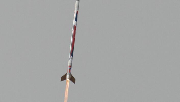Første helnorske romrakett vellykket skutt opp fra Andøya