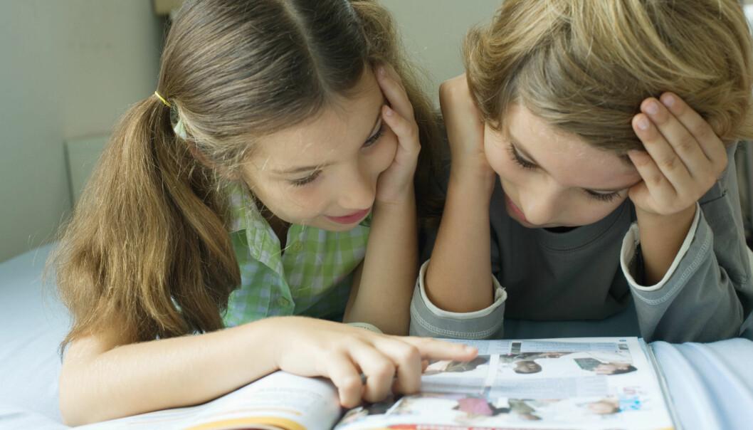 – Barn kan få motivasjon og lese frivillig dersom de får tegneserier, sier forsker ved Høgskolen i Oslo og Akershus. Hun har blant annet forsket på Tommy og Tigern. (Illustrasjonsfoto: Colourbox)