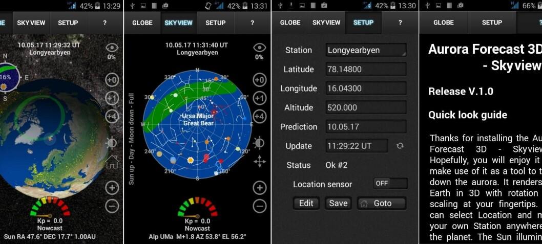 Nå kan du få nordlysvarsel i 3D på mobilen