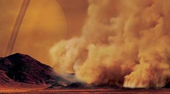 Saturns måne Titan har enorme sandstormer