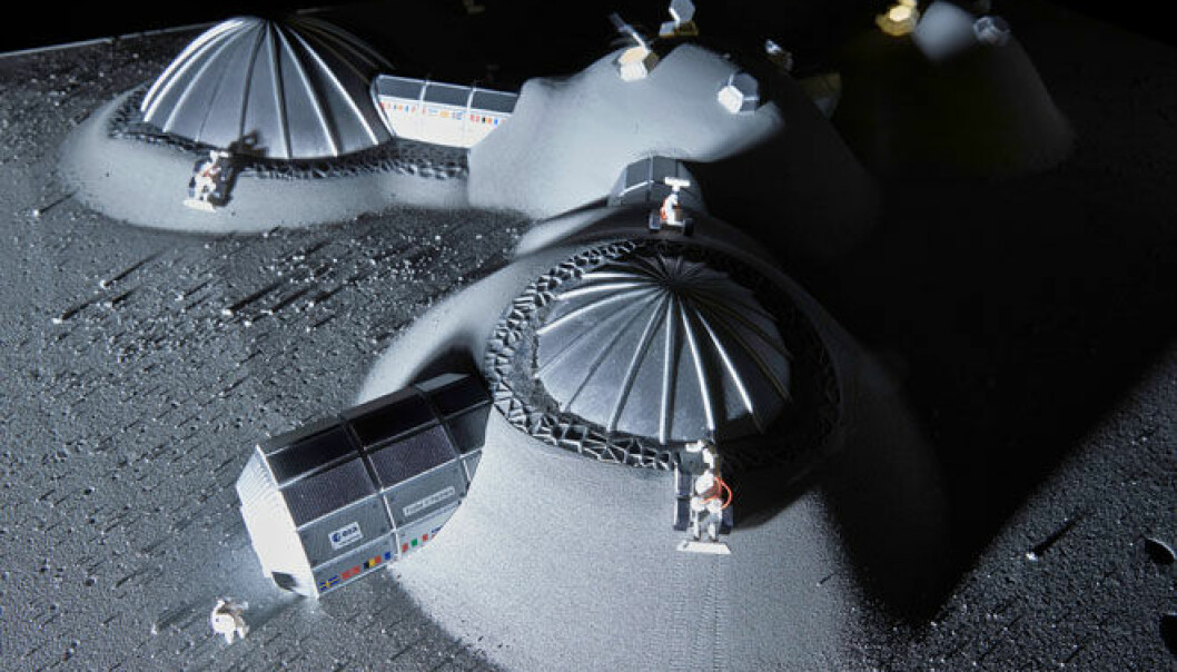 Forskere skal lage månebetong