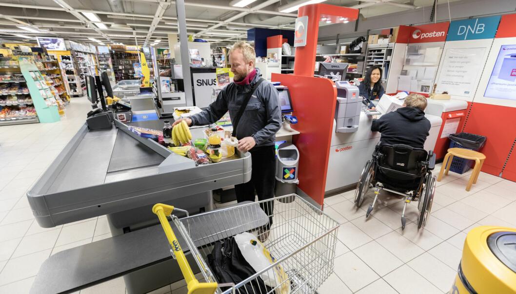 Forskerne eksperimenterte med musikk i små dagligvarebutikker i ulike deler av Oslo. De varierte med rask, rolig og ingen musikk i det hele tatt.  (Foto: Gorm Kallestad / NTB scanpix)