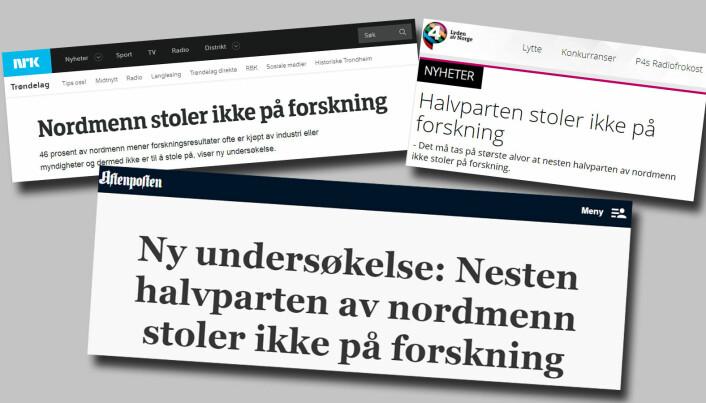 Stoler virkelig ikke nordmenn på forskning?