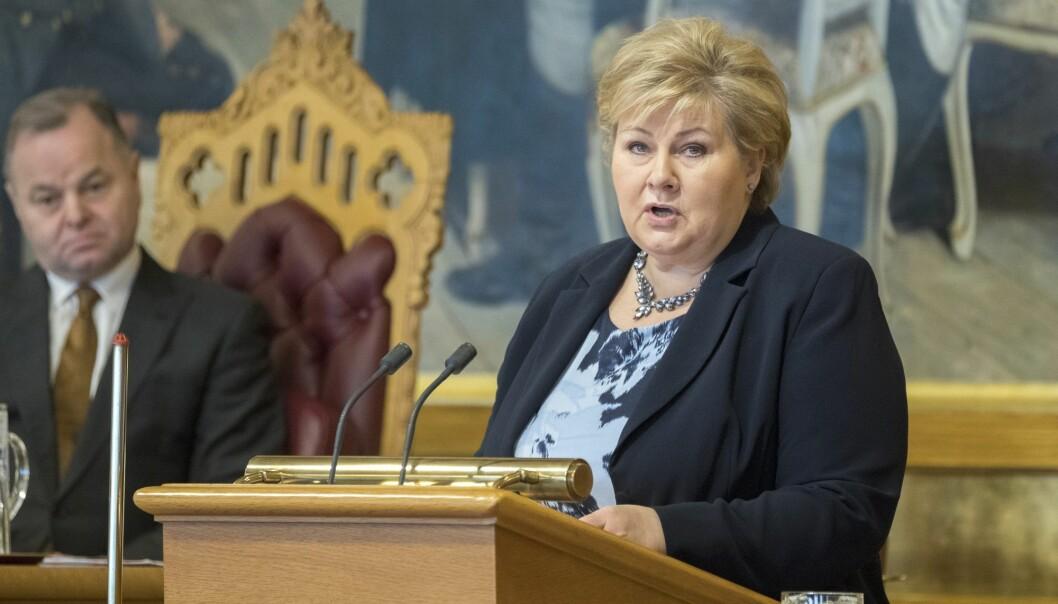 Statsminister Erna Solberg vi gjerne at du og jeg skal bli enig i det hun sier. (Foto: Gorm Kallestad / NTB scanpix)