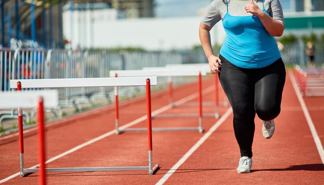 – Fysisk aktivitet reduserer risikoen for hjerteinfarkt hos folk med fedme med 19 prosent. Fysisk aktivitet er derfor veldig viktig. Det viser seg, dog at vektreduksjon er mye viktigere enn økt aktivitet, sier forsker. (Illustrasjonsfoto: Pressmaster / Shutterstock / NTB scanpix)