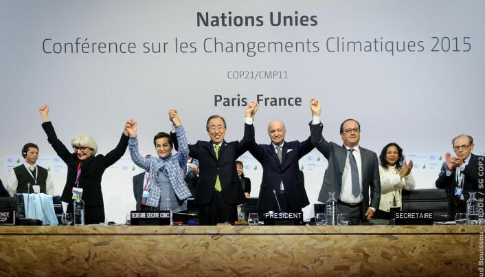 I desember 2015 ble Parisavtalen feiret – nå legges planen for gjennomføringen. (Foto: COP)