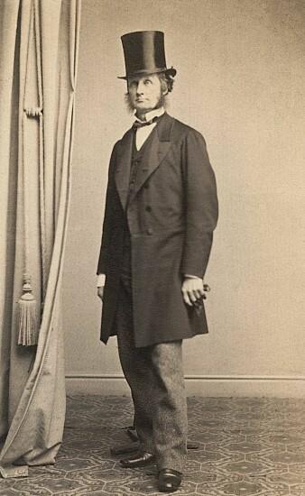 Thorvald Meyer ca 1870-1880. (Illustrasjon: Claus Peder Knudsen)