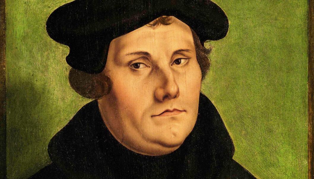 Frelsen er gratis og troen på Gud er den eneste veien til frelse, slo Martin Luther fast. (Maleriet er lagd av Lucas Cranach den eldre og er fra 1529.)