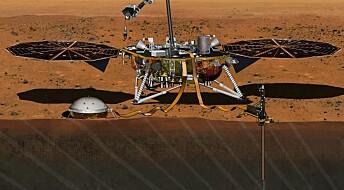 NASAs mekaniske muldvarp skal hamre seg ned i bakken på Mars
