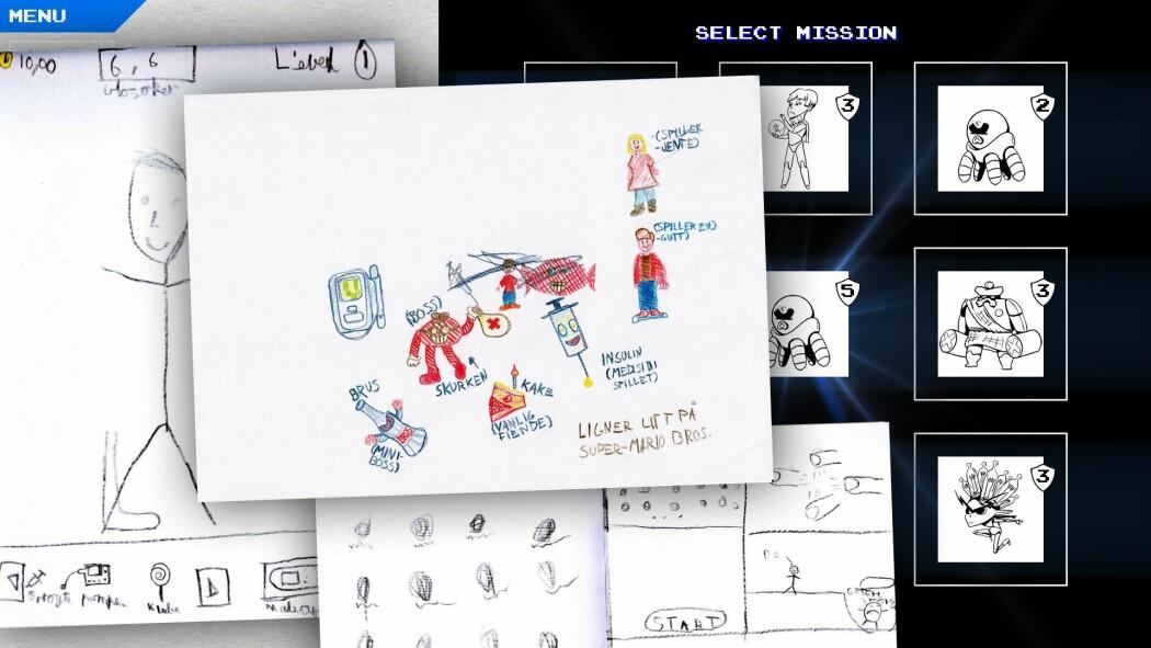 Forskere utvikler et dataspill hvor barn kan lære om diabetes. Den spilleren som mestrer sykdommen best, kommer lengst og sanker mest poeng. (Skjermdump fra Diabetes-spillet)