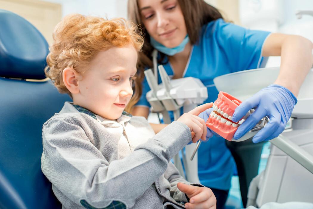 Den offentlige tannhelsetjenesten er pålagt å informere om god tannhelse. Men hvilke tiltak de bruker, er tilfeldig. (Illustrasjonsfoto: RossHelen / Shutterstock / NTB scanpix)