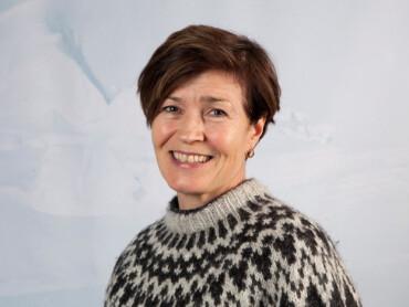 Forsker Eva Fuglei ledet telleteamet på Svalbard. (Foto: Malin Alette Hansen / Norsk Polarinstitutt)