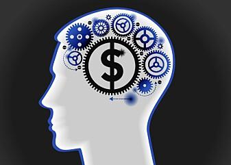 Økonomer så fram til for noen år siden på oss mennesker som superrasjonelle individer med full selvkontroll. Men hjernen vår er i virkeligheten en belønnings-junkie. (Illustrasjon: VLADGRIN / Shutterstock / NTB scanpix)