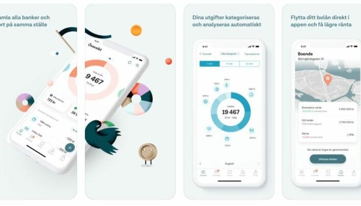 Apper kan gi deg bedre oversikt over økonomien din. Når Norge innfører nye EU-regler, kan det komme helt nye aktører i finansmarkedet med apper som gir deg totaloversikt. Slik kan du enkelt flytte lånet ditt der det er smartest å ha det. Du kan også få bedre oversikt over sparingen din. I Sverige tilbyr appen Tink dette allerede. (Foto: Tink)