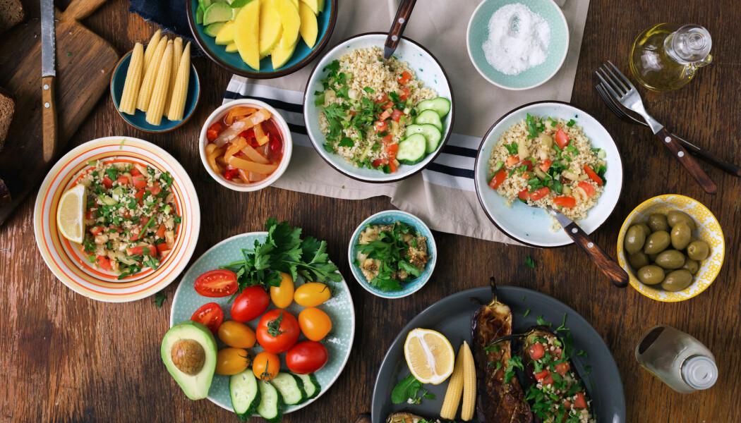 Sunn mat er også bra for miljøet. Grønnsaker og fisk er mindre belastende for miljøet enn kjøtt, forteller forskere. (Foto: KucherAV / Shutterstock / NTB scanpix)