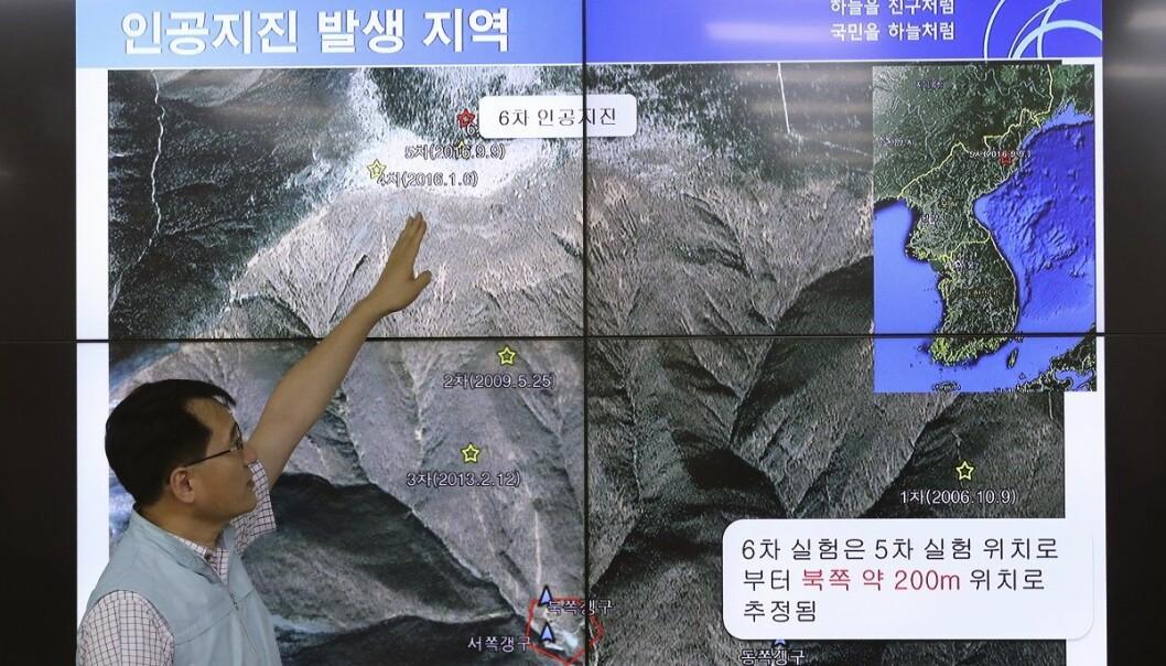Sør-Korea anslår at bomben Nord-Korea prøvesprengte i helgen var på rundt 50 kilotonn. (Foto: AP, NTB scanpix)