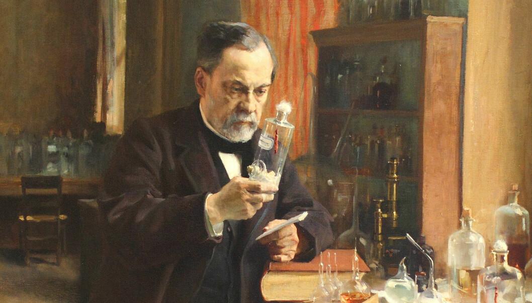 Louis Pasteur (1822-1895) og hans arbeid blir ofte trukket fram som eksempel på hvordan grunnleggende forskning kan få fantastiske resultater. Pasteur forsket på bakterier og oppdaget at det er de som ofte gjør oss syke. Han fikk ansatte på franske sykehus til å begynne å tenke på hygiene. Han forsto også at vi kan få kroppen til å forsvare seg mye bedre mot angrep fra en rekke sykdommer, om vi gir den en vaksine. (Portrett: Albert Edelfelt / Foto: paintingiant.com /Wikimedia commons)