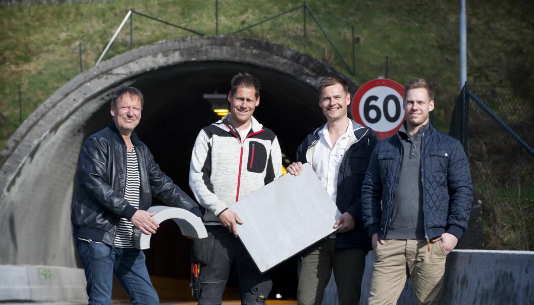 Familiebedriften i Arendal har utviklet et materiale som kan erstatte betong. Nå har forskere testet om erstatningen tåler kollisjon og brann. (Foto: Espen Sand/Foamrox)