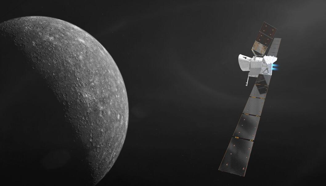 Romsonden BepiColombo skytes opp til Merkur 20. oktober 2018. Ekspertene ved ESA har trent på å styre romsonden i flere måneder. (Grafikk: ESA/ATG medialab)