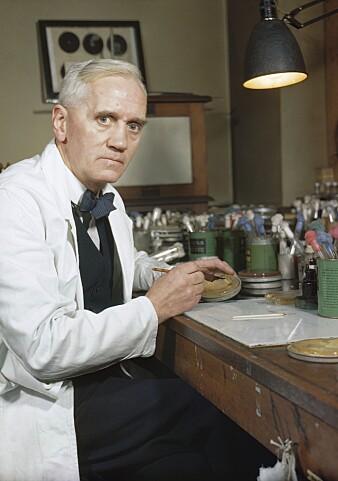 Alexander Fleming, som oppdaget penicillin takket være slurv på labben i 1928, tok ikke patent. Noen mener dette var årsaken til at det gikk så lang tid fra oppdagelse til masseproduksjon. (Foto: Imperial War Museums)