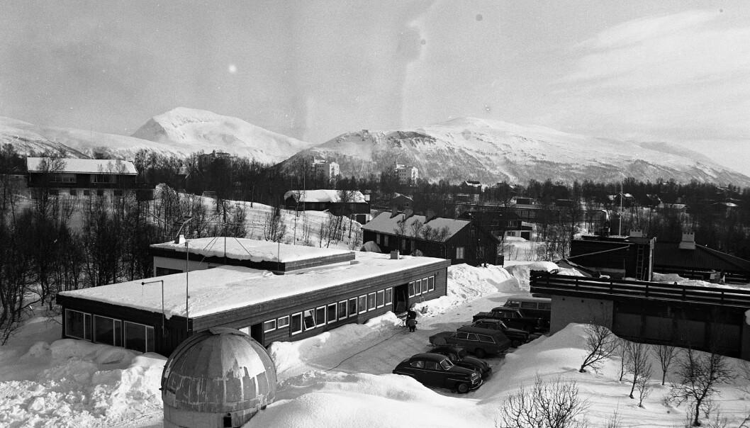 Slik så Tromsø Telemetristasjon ut på 1970-tallet. (Foto: KSAT)