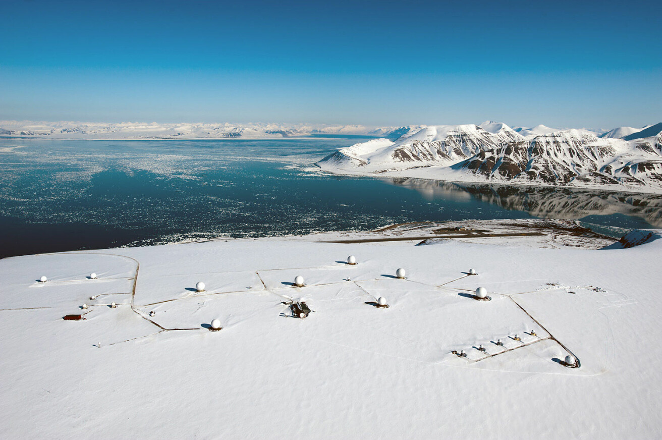 SvalSat, KSATs bakkestasjon på Svalbard, er verdens mest brukte bakkestasjon. (Foto: KSAT)