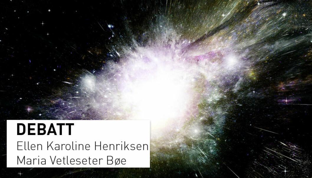 - Å lære om universet er for mange ungdommer en motivasjon og en innfallsport til realfagene, skriver Henriksen og Bøe. (Illustrasjon: Shutterstock / NTB Scanpix)