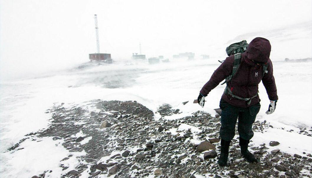 Ekspedisjonen opplevde mye vind og dårlig vær mot slutten av reisen, men mesteparten av jobben var allerede gjort.  (Foto: Calle Lundberg)