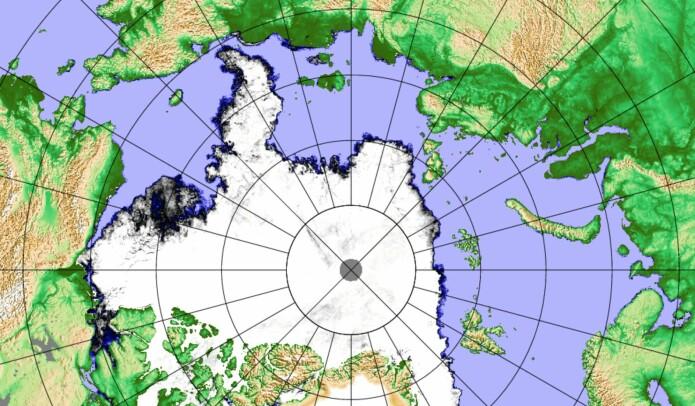 Iskart for Arktis 20. oktober. (Bilde: PolarView / Univ. Bremen)