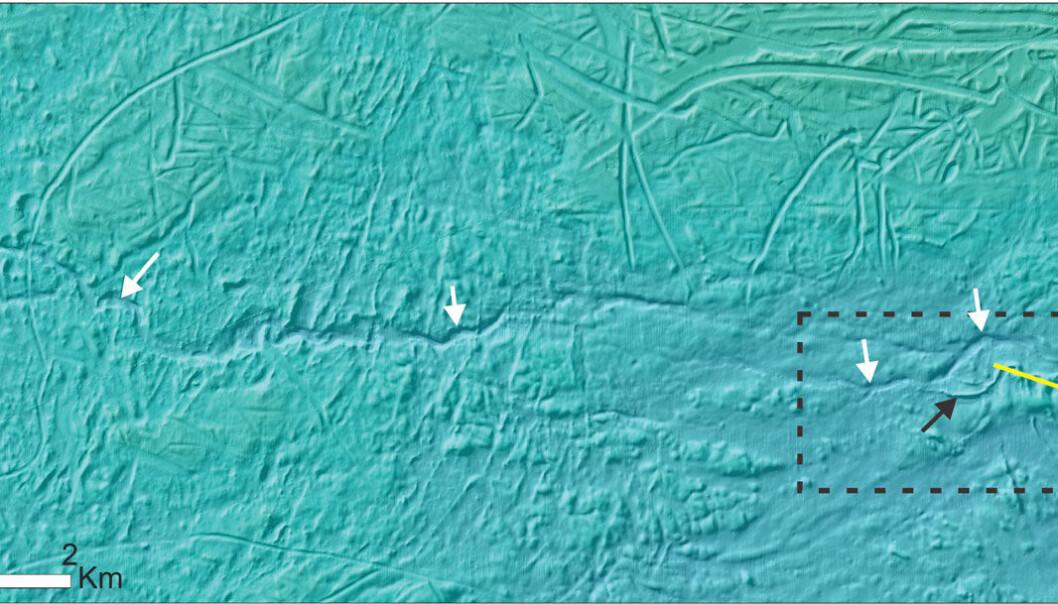 Elvekanaler på bunnen av Barentshavet